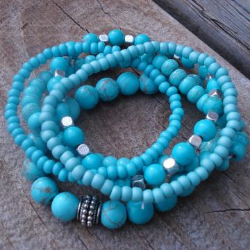 Bracelet Bundle (5 piece turquoise blue)