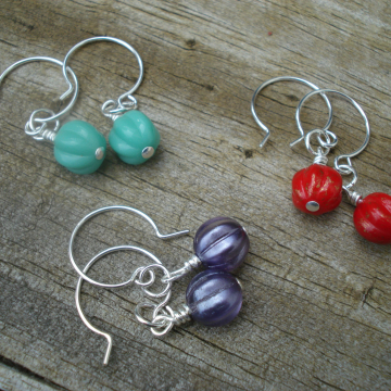 Melon Earrings (your choice)