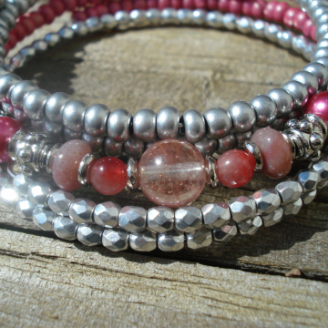 3 Bracelet Set (pink fantasy)