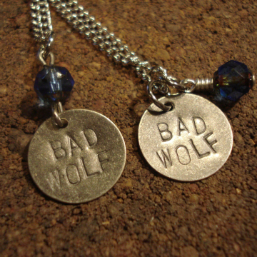 BAD WOLF Doctor Who inspired Necklace (choice)