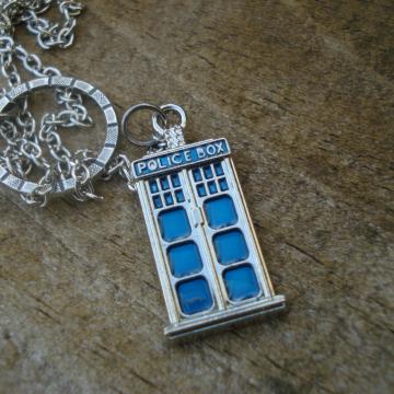 TARDIS Lariat Necklace