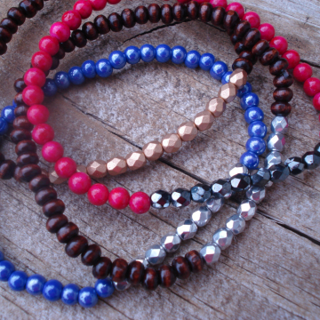 Beaded Crystal Stack Bracelet (choice)