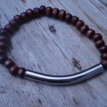 GUNMETAL BAR Bracelet