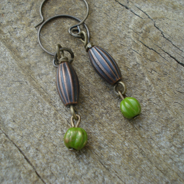 POD & MELON Earrings (green)