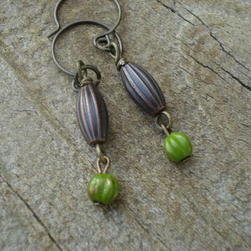 POD & MELON Earrings (green)