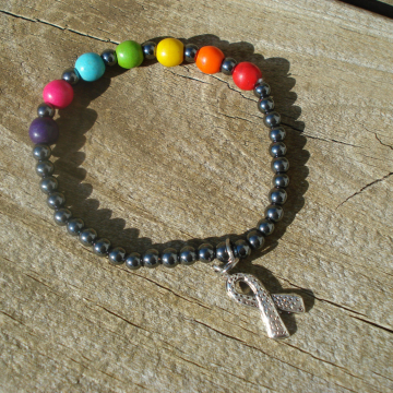 AUTISM RIBBON Bracelet (choice of charm)