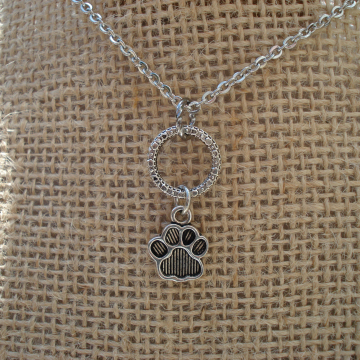 Paw & Ring Necklace