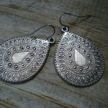 Teardrop Medallion Earrings