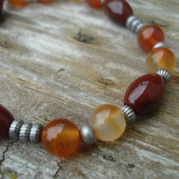 Autumn Splendor Mixed Agate Bracelet