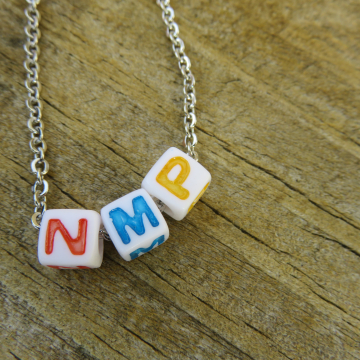 NMP Necklace (Not My President) - color blocks
