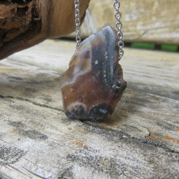Agate Slice Necklace #1