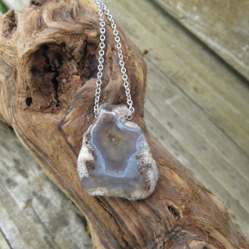 Agate Slice Necklace #3