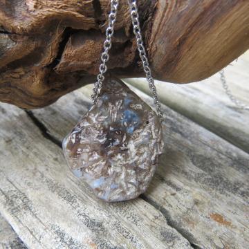 Agate Slice Necklace #4
