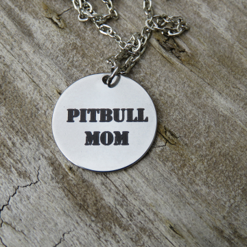Pitbull Mom Charm Necklace