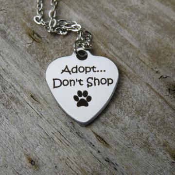 Adopt Don't Shop Charm Necklace
