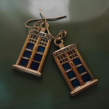 Mini TARDIS Earrings