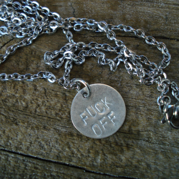 Bite Me, Fuck Off, Love, CUSTOM NECKLACE