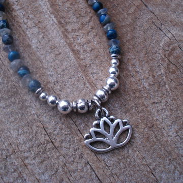 Blue Lotus Necklace