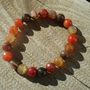 8mm Agate Stretch Bracelet (dragon vein agate)