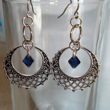 RAFAELA (silvertone with choice of bead color)