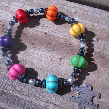 AUTISM PUMPKIN Bracelet