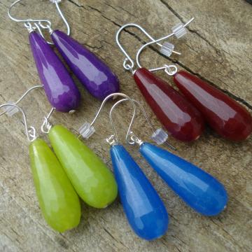 Candy Jade Teardrop Earrings (choice)