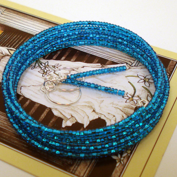 BRACELET & EARRINGS (sea blue 11)