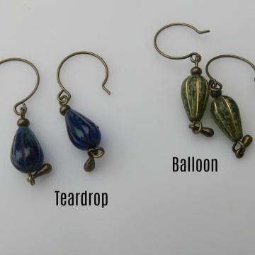 Teardrop or Balloon Earrings