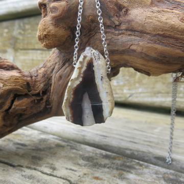 Agate Slice Necklace #2