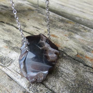 Agate Slice Necklace #5