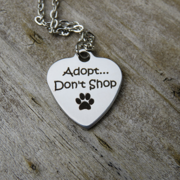 Adopt Don't Shop Charm Necklace